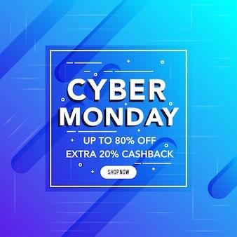 La mejor venta de cyber monday banner