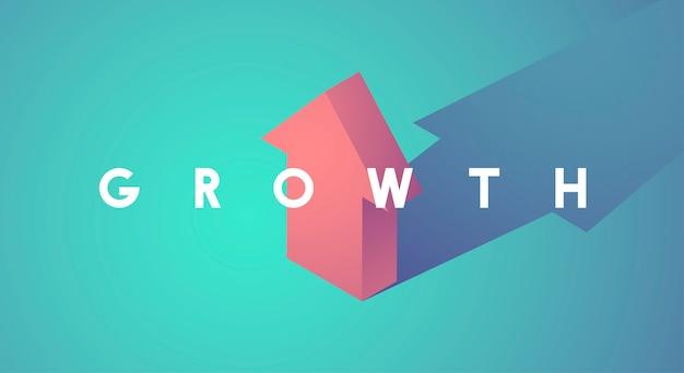 Mejora de crecimiento aumentar icono de flecha arriba