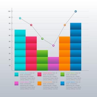 Mejorado recuperado después de la crisis gráfico gráfico de barras económico estadístico infografía