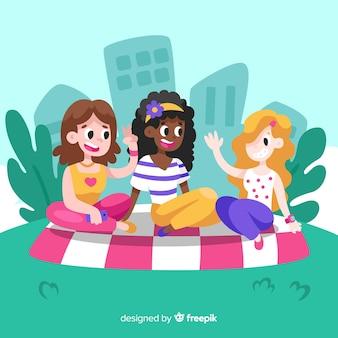 Mejores amigos divirtiéndose juntos