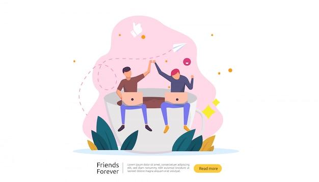 Los mejores amigos para siempre concepto