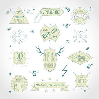 Las mejores etiquetas de café natural de calidad premium retro establecen ilustración vectorial aislado