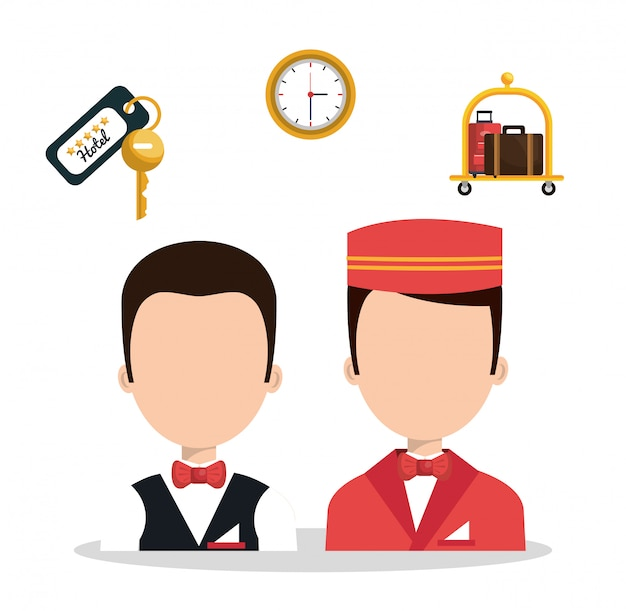 Mejores iconos de servicios conjunto de hotel