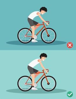 Mejores y peores posiciones para montar bicicleta.