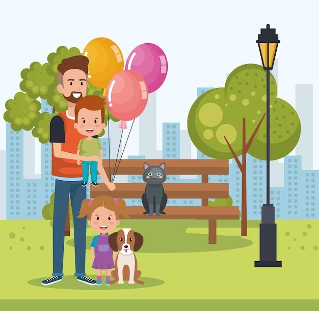 Mejores personajes del padre en el parque