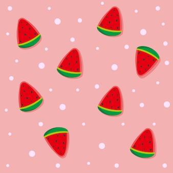 El melón de agua es fruta es dulce delicioso