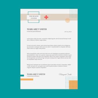 Membrete médico plano