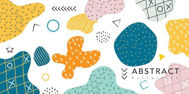 Memphis geométrico con patrón de doodle