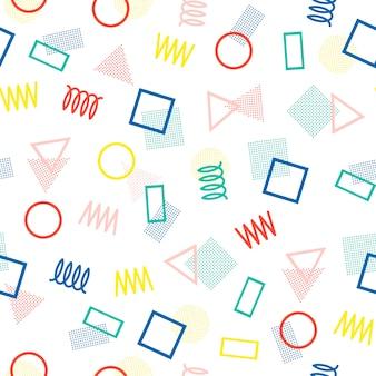 Memphis patrones sin fisuras. 80-90s. texturas abstractas jumble.