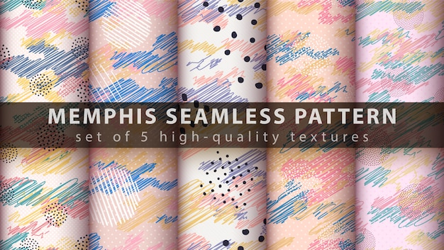 Memphis pintura de patrones sin fisuras