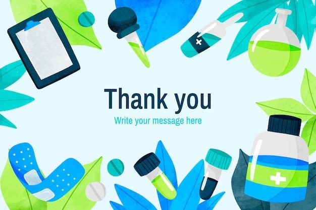 Mensaje de agradecimiento sobre antecedentes médicos