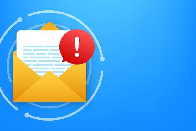 Mensaje de alerta notificación de computadora portátil advertencia de error de peligro problema de virus en la computadora portátil o mensajería insegura