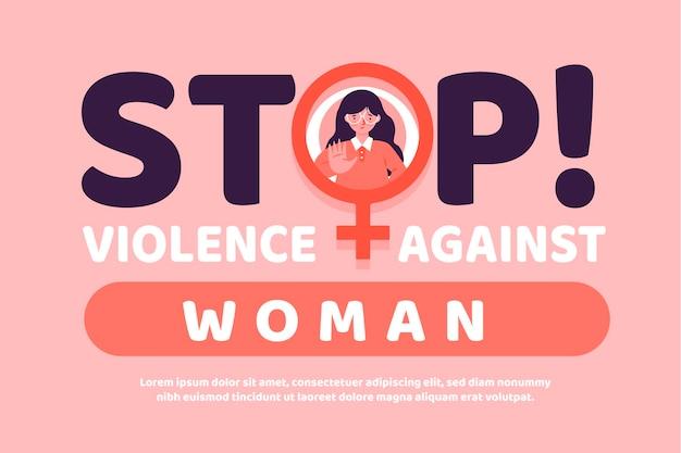 Mensaje de eliminación de la violencia contra la mujer