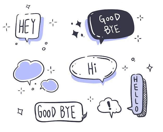 Mensaje de estilo de dibujos animados