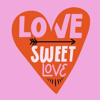 Mensaje de letras de amor
