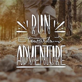Mensaje de letras de aventura