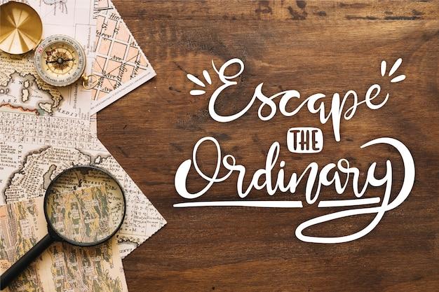 Mensaje de letras motivacionales de aventura