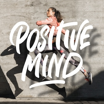 Mensaje de letras positivas