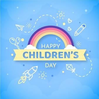 Mensaje plano del día mundial del niño