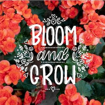 Mensaje positivo con flores