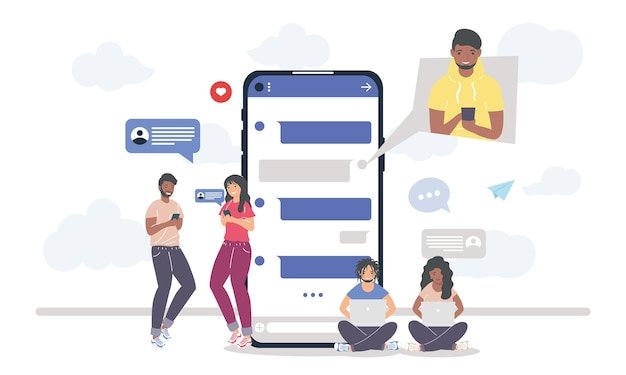 Mensajería de personas de smartphone