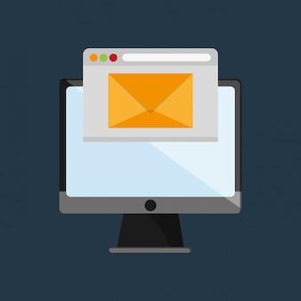 Mensajería web a través de la imagen de la computadora