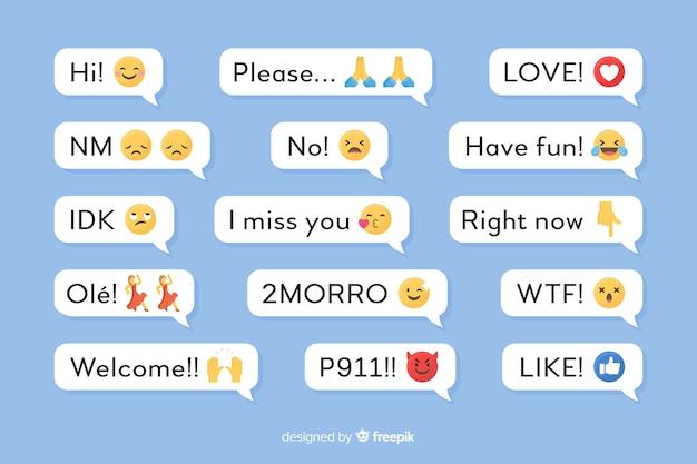 Mensajes móviles con emojis