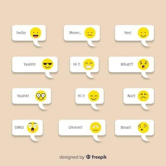 Mensajes con reacciones emojis