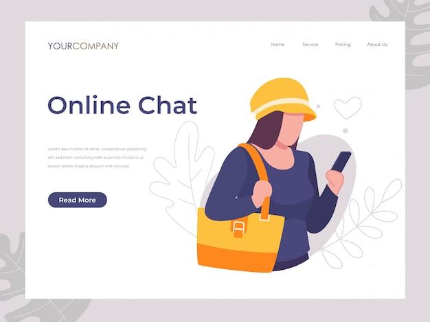 Mensajes de texto de chat en línea