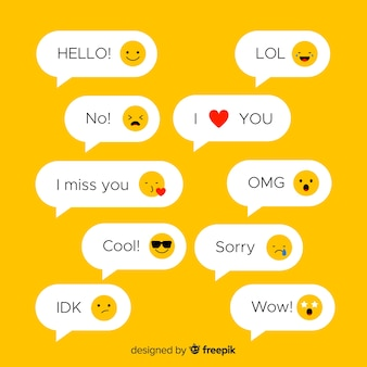 Mensajes de texto con emojis