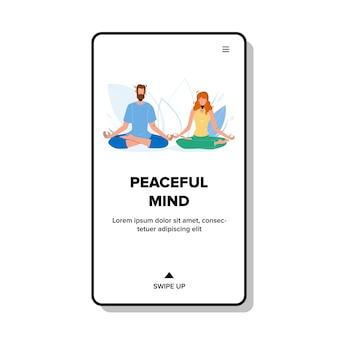 Mente pacífica meditando niño y niña