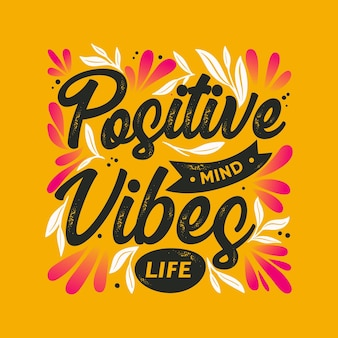 Mente positiva letras con foto