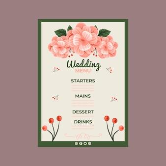 Menú de aniversario de boda