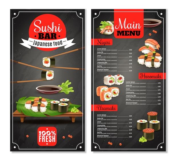 Menú de la barra de sushi