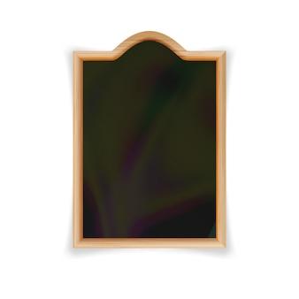 Menu black board vector