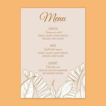 Menú de boda estilo floral