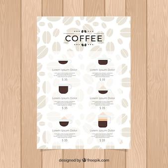 Menú de café