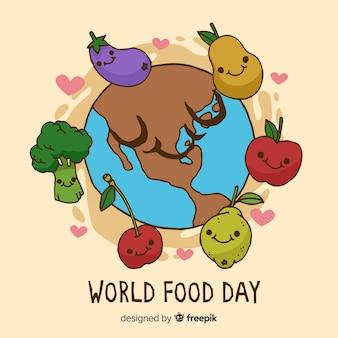 Menú delicioso de verduras en el día mundial de la comida