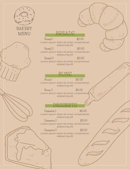 Menú de restaurante digital vertical
