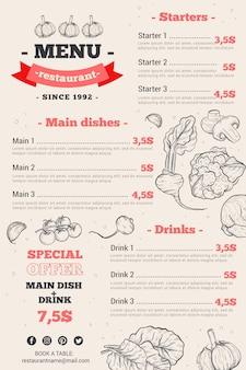 Menú de restaurante digital