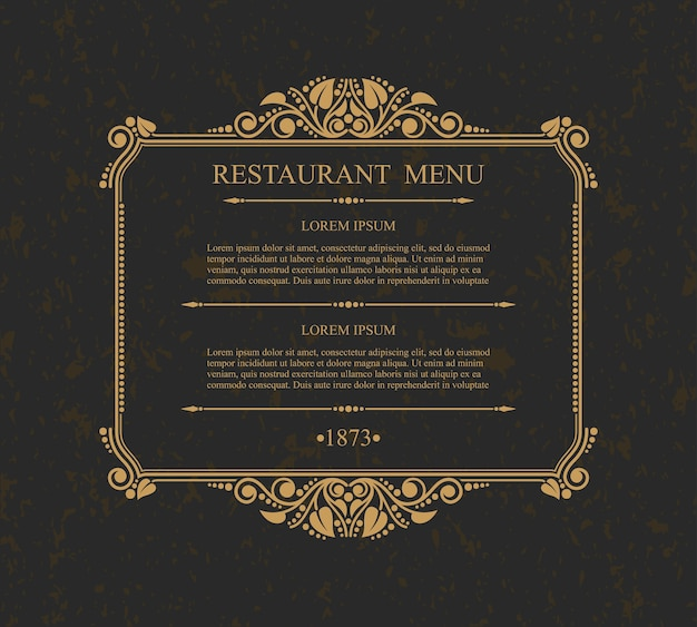 Menú del restaurante elementos de diseño tipográfico, plantilla elegante caligráfica,