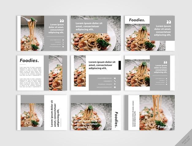 Menú del restaurante y libro de cocina