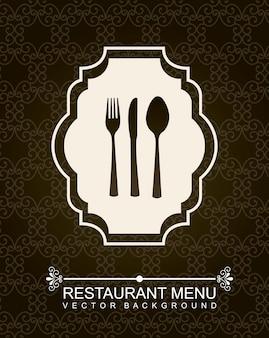 Menú del restaurante sobre fondo negro ilustración vectorial