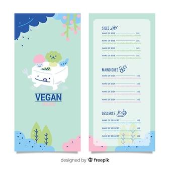 Menú de restaurante vegano