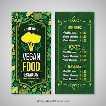 Menú de restaurante verde