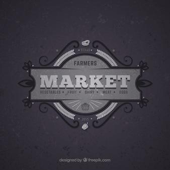 Mercado retro insignia