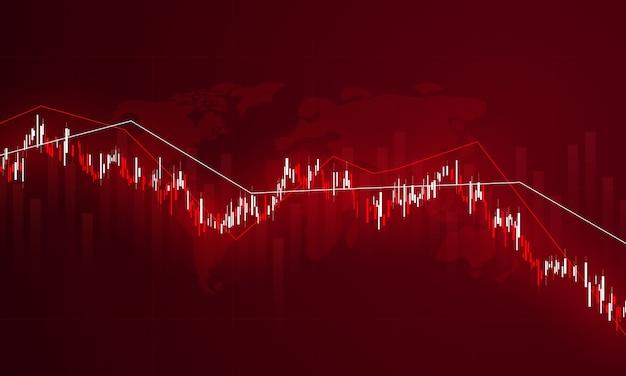 Mercado de valores, gráfico económico con diagramas, conceptos e informes empresariales y financieros, antecedentes del concepto de comunicación de tecnología abstracta
