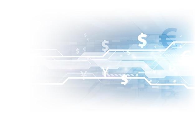 Mercado de valores o gráfico de comercio de divisas en concepto gráfico