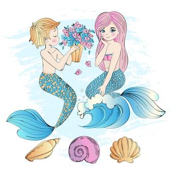 Mermaid bouquet sea underwater party