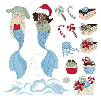 Mermaid yummy año nuevo color